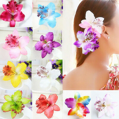 2pcs Orchid Flower Hair Clip Hairpin Bridal Wedding Bridesmaid Party Accessories