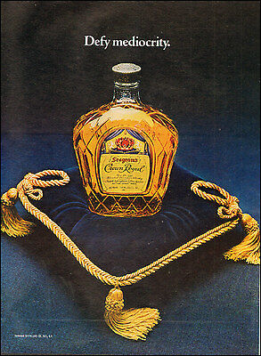 1978 Print ad for Seagram's Crown Royal Royal Blue Pillow gold  Tassels (112115)