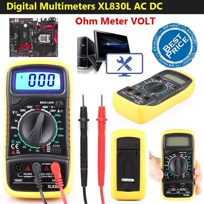 LCD Digital Multimeter Voltmeter AC&DC Voltage Tester Circuit Checker Buzzer New