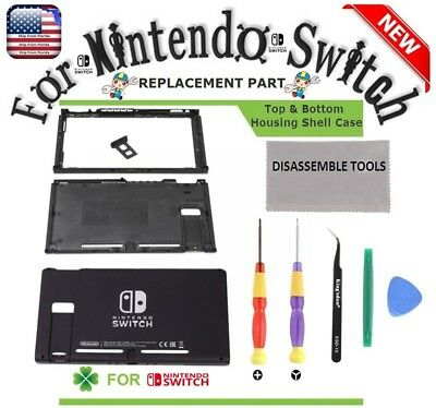 Nintendo Switch Replacement Top & Bottom Housing Shell Case + Repair Tools Set