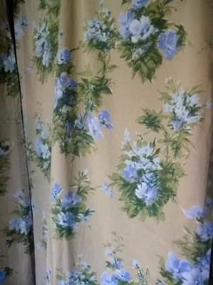Pair French Vintage Quality Chateau Curtains 1950s