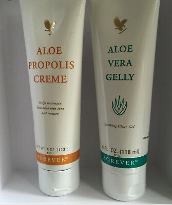 New-Forever Living Aloe Vera Gelly & Propolis Creme-Forever Aloe Tooth Paste
