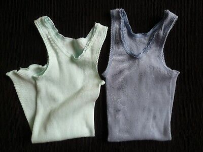 Baby clothes GIRL 18-24m Bonds, Australia x2 sleeveless summer stretch tops blue