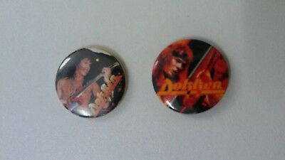 Dokken heavy metal band music buttons vintage SMALL BUTTON set