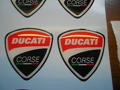 ducati corse 1098 1198 domed decals x2 high gloss domed gel finish