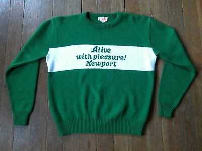 Vintage Newport menthol Cigarette knitted Sweater offical merch collectors item