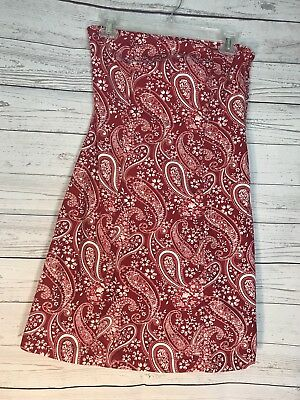 848fe701ad3 TOMMY HILFIGER SIZE 2 RED BANDANA PRINT Strapless dress Festival Party Dress
