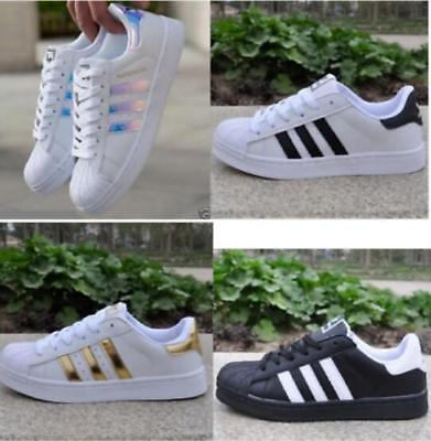Mens/Womens Pumps Superstars City Trainers Lace Up Sports Running Fitness Shoes