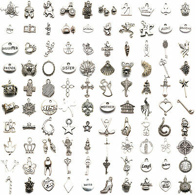 Tibetan Silver Accessories Dangle Beads Charm Pendant For Jewelry Making