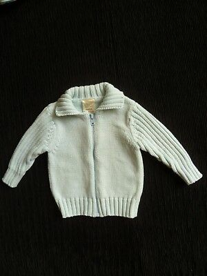 Baby clothes BOY newborn 0-1m light blue collar, zip, cardigan Tiny Ted SEE SHOP