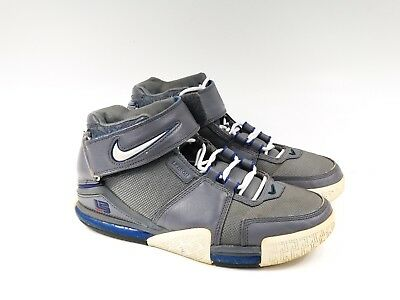 the best attitude c664f c11ae 2004 Nike Air Zoom Lebron 2 Ii Asg All Star Cool Grey Blue Size 8