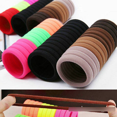 50 Pcs Kids Girl Lady Elastic Rubber Hair Bands Ponytail Holder  Rope Ties  BT