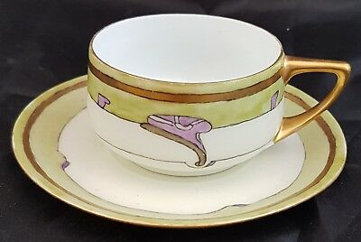Rosenthal Cup & Saucer, Hand Painted Signed? Art Deco Style
