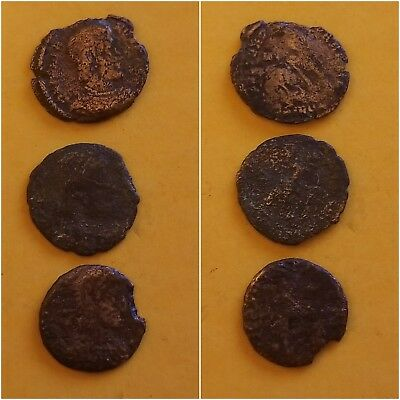 lot of 3  ANCIENT ROMAN COINs