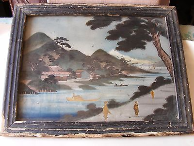 Japans original paintings with frame and natural view. .