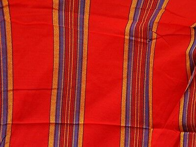 RED Striped  Maasai/Masai  Shuka, Picnic,Table/Bedspread, Throw, Wrap, Blanket