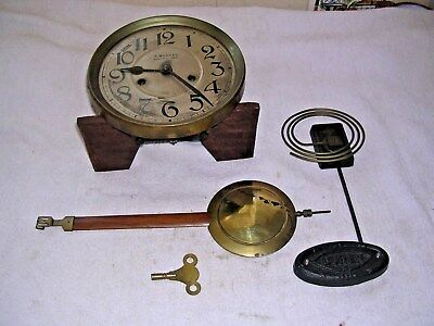 CLOCK  PARTS,MOVEMENt,CHIME, HANDS,PENDULUM ,KEY   j
