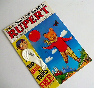 Rare - Second No 2 Issue Of Rupert Weekly Comic With Free Balloon 2710/1982