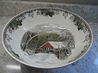 """Johnson Brothers The Friendly Village Large Salad Bowl 12"""" EXCELLENT"""