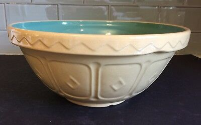 "Vtg Mason Cash & Co. No. 18 - 10 1/2"" Caneware Mixing Bowl Church Gresley"