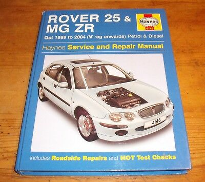 mg zr rover 25 1999 2004 haynes service repair workshop manual rh picclick co uk 6 Mg mg zr haynes manual free download