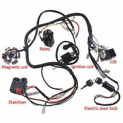 Wiring Harness Wire Loom Stator Electrics Fit GY6 150CC 125CC BUGGY SCOOTER