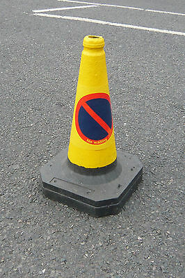 ** Heavy Duty Self Weighted 450mm NO WAITING Road Traffic Cone (Pack of 10)**