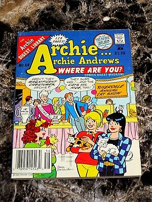 Archie Archie Andrews Where Are You? Comics Digest Magazine #56 (June 1988) Vf