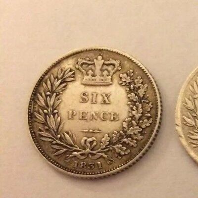 William IV Silver Sixpence 1831 x1