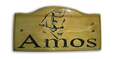 Personalized Carved Engraved Silhouette Pet Name Words Wood Oak Pine Sign Plaque