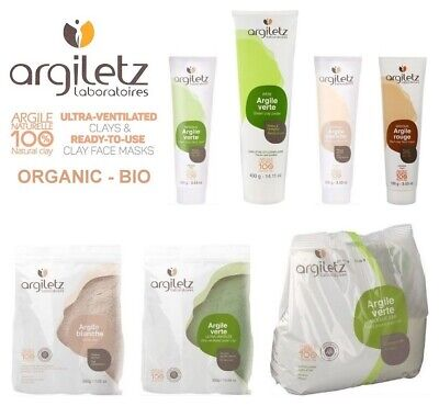 Argiletz Green & White Clay - Organic Natural Bio - Face Mask - Bath - Hair Mask