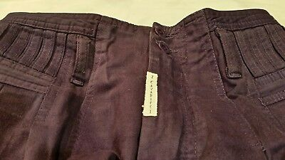 VINTAGE Z. CAVARICCI Women's Purple Pants Sz. 28 High Waist 100% Cotton +1 Free