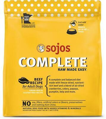 Sojos Freeze Dried Raw Beef Complete Dog Food