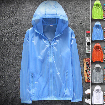 Solid Coat Tops Lovers Beach Outdoor Men Sun-Protection Clothing Long Sleeve