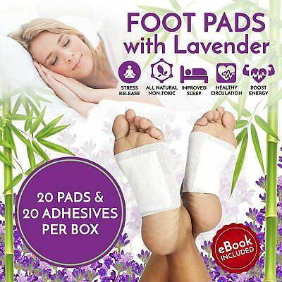 Paiko 20 pack FOOT PADS Detoxing Cleansing Adhesive Foot Care Patches (Lavender)