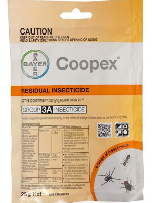 BAYER COOPEX RESIDUAL PESTICIDE 25g