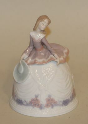 Retired Lladro Spain Porcelain Bell in Box Sounds of Summer 5955