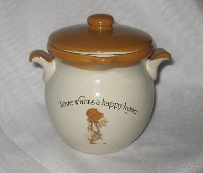 Holly Hobbie Country Living Stoneware Dripping Dish - Love Warms a Happy Home