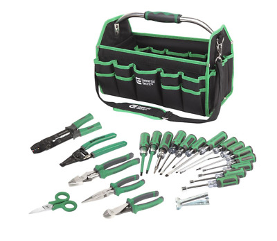 Electrician 22 Piece Tools Hand Tool Electrical Set Kit Screwdriver Pliers Bag