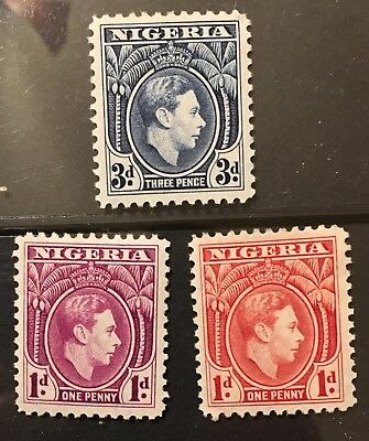 Nigeria 1938 SG 50 51 56 Mint HROG VF Nice Collection W2-32