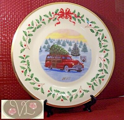 LENOX 2017 The Annual Holiday Collector Plate, 27th Series, Made in USA, No Box