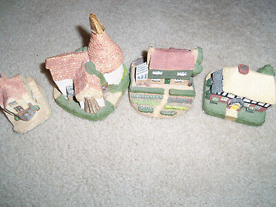 4  Vintage Cottages handpainted for Royal Doulton Made In England