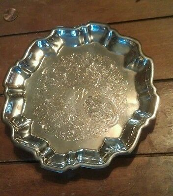 WALLACE SILVER/ SILVER PLATE FOOTED CANDY DISH # 1525 (Washington Dorm 1968)