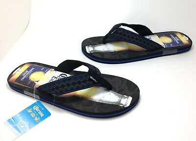 c6e56a2e3da New Mens Corona Extra Beer Bottle size LARGE 10 11 Flip Flops Sandals
