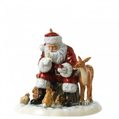 Royal Doulton Father Christmas 2017 A Woodland Christmas Figurine HN 5855