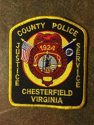 Chesterfield County Va Police Patch