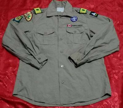 OFFICIAL SCOUTING BOY SCOUTS OF CANADA CUB Uniform shirts Tan Youth Q221 Small