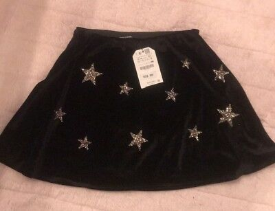 Zara Girls Casual Collection skirt Size 13/14 Stars NWT Retail $22.90