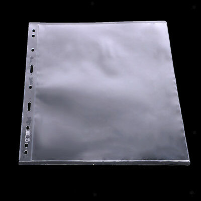 10x Clear Paper Stamp Money Collection Album PVC Pagina Protect Holder -1