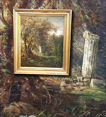 Symbolismus. Rare Antique Painting by the Böcklin Students Karl L.Radish (1841)